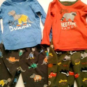 Carter's Toddler Boys 2 Piece Pajamas Set Size 3T